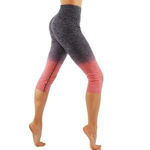 Pants - 50% OFF Ombre leggings yoga pants Black/Coral